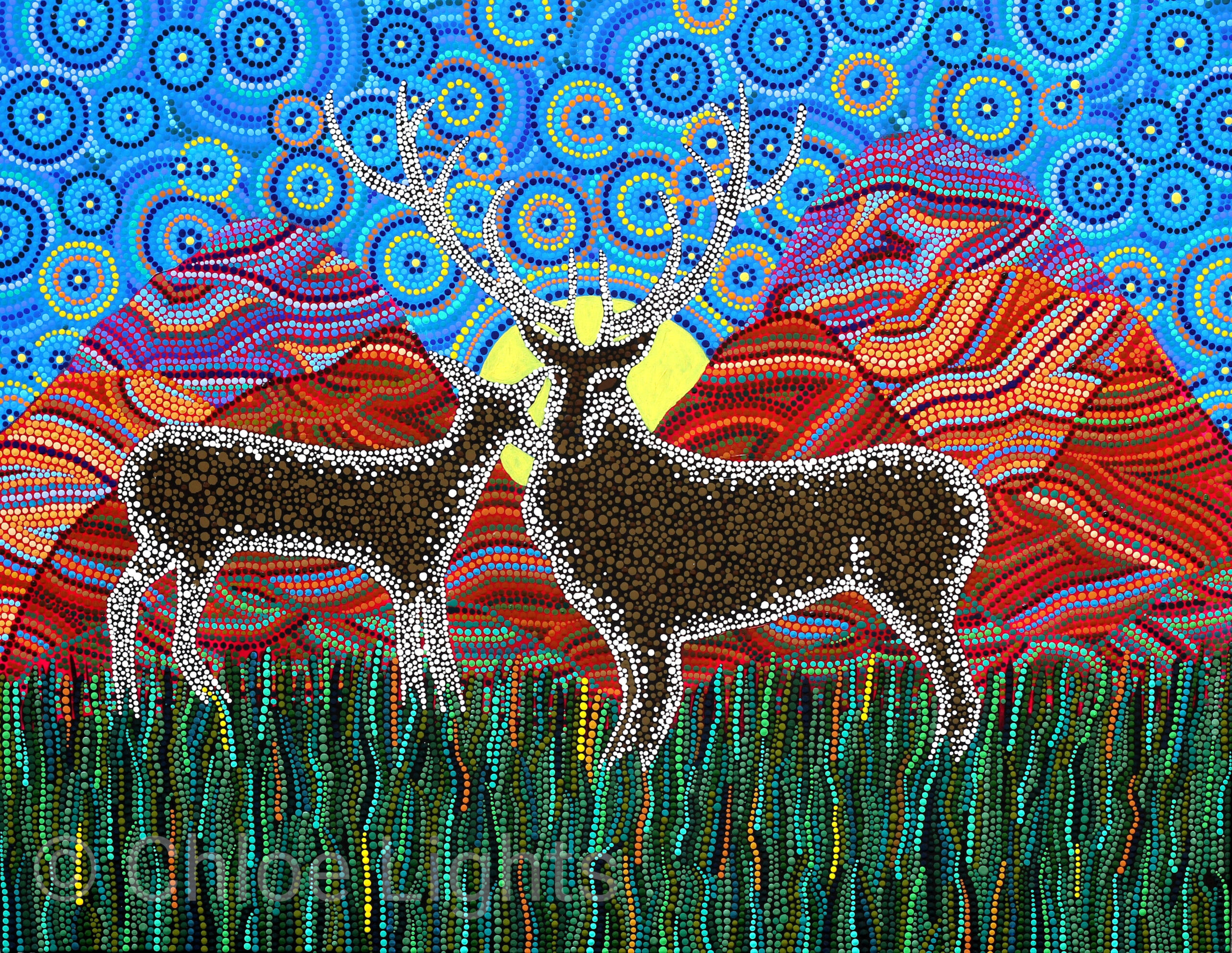 Stags painting