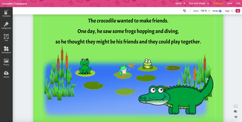 children's story book page